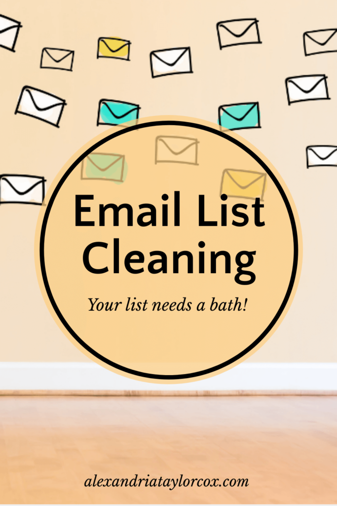 Email List Cleaning - your list needs a bath!